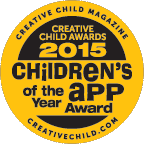 Seal and Logo for creative child app award 2015