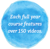 Each course features over 150 videos.
