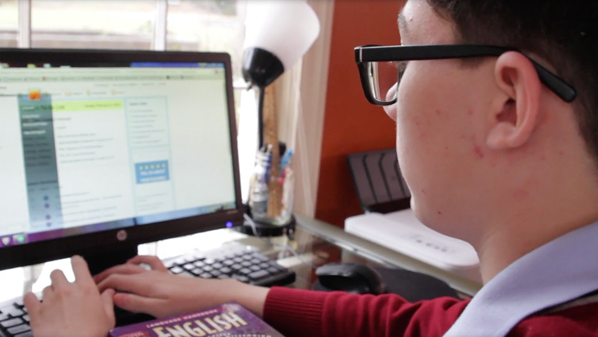 Student working on the Computer
