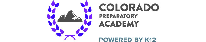 Logo of Colorado Preparatory Academy - Powered by K12