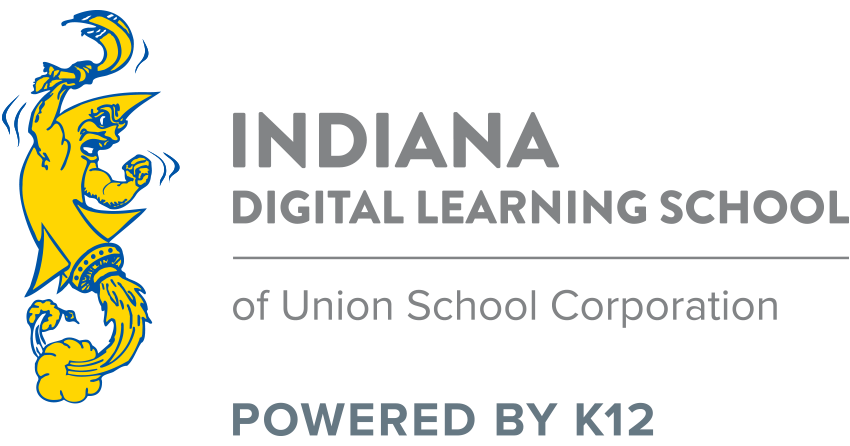 Logo of Indiana Digital Learning School - Powered by K12