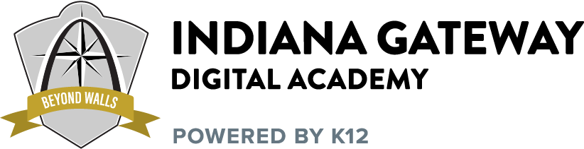 Logo of Indiana Gateway Digital Academy - Powered by K12
