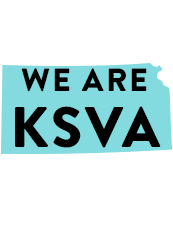A Graphic that reads We are KSVA