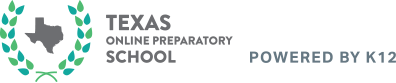 Logo of Texas Online Prepatory School - Powered by K12