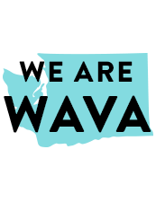 Graphic with text WAVA